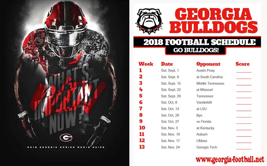 ga bulldog football schedule 2017 georgia football live stream tv schedule georgia 5558